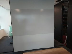Customization seamless whiteboard for projection.