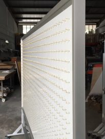 Customized Double sided magnetic whiteboard with 1000 hooks each side