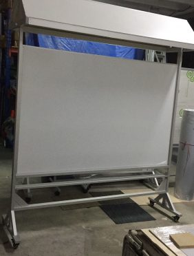 customized magnetic whiteboard with shelter 2