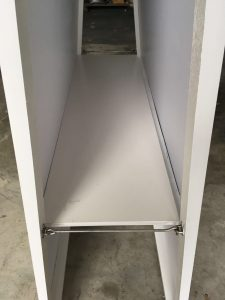 customized whiteboard with intergreated shelving 4